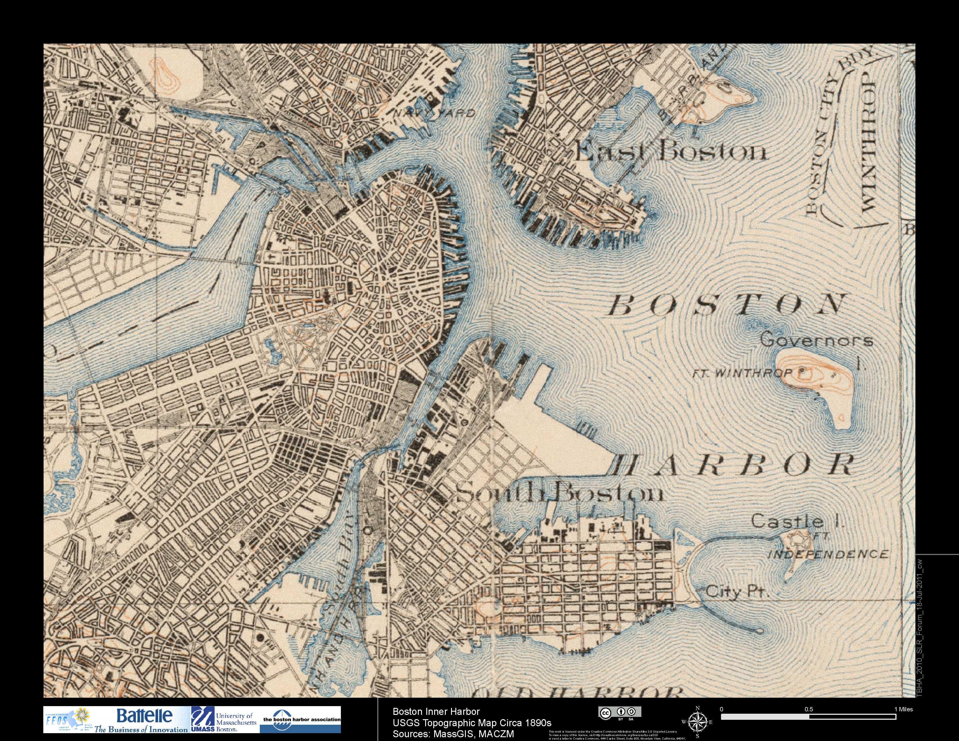 Flood Maps Boston Harbor Now