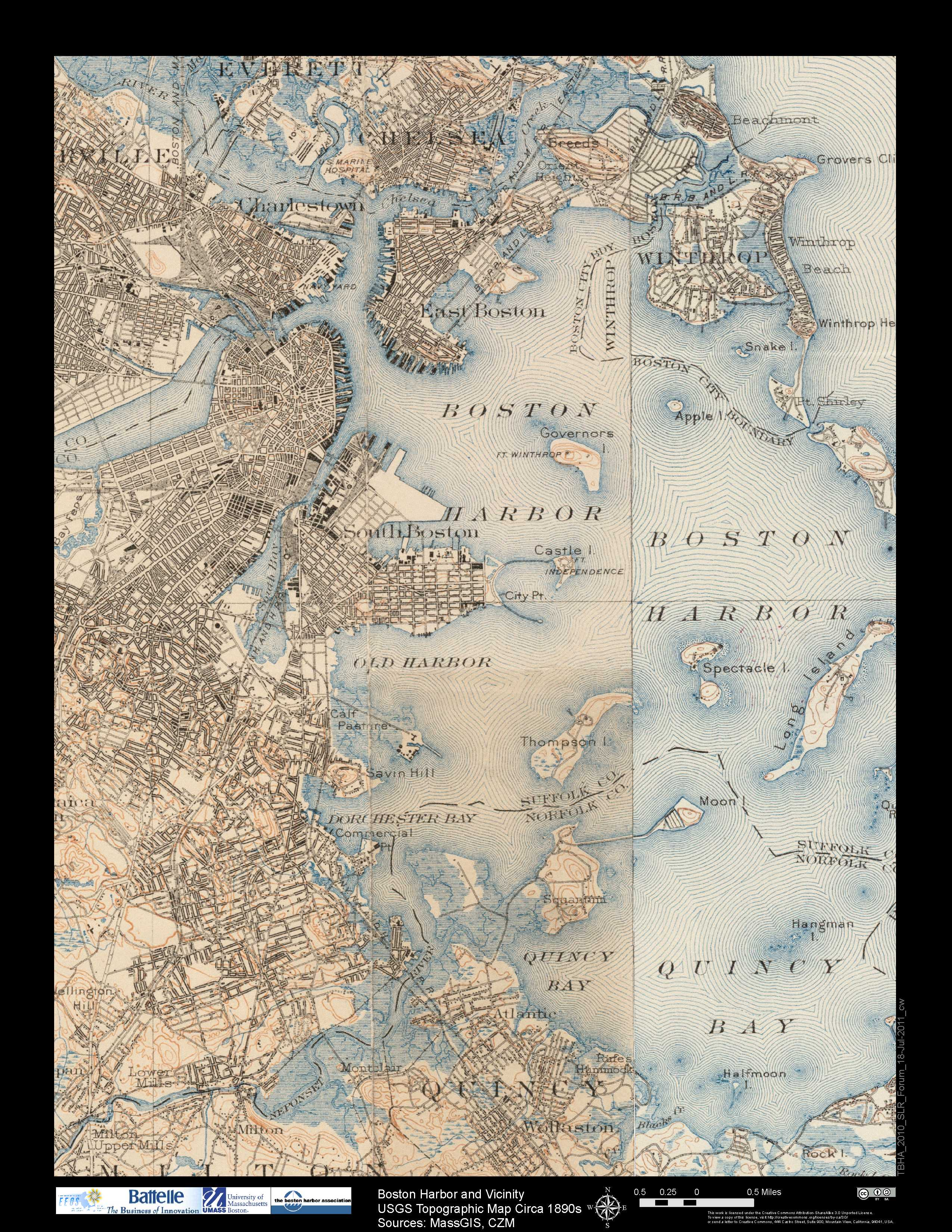 Flood Maps Boston Harbor Now Boston Harbor Now - Map of boston vicinity