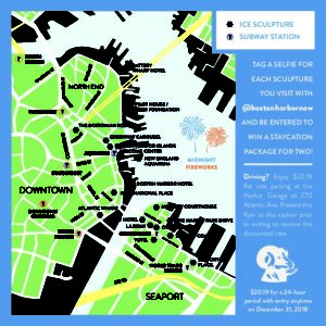 Boston Subway Map Poster.Sculpture Stroll Map 2019 Back Bleed Boston Harbor Now Boston