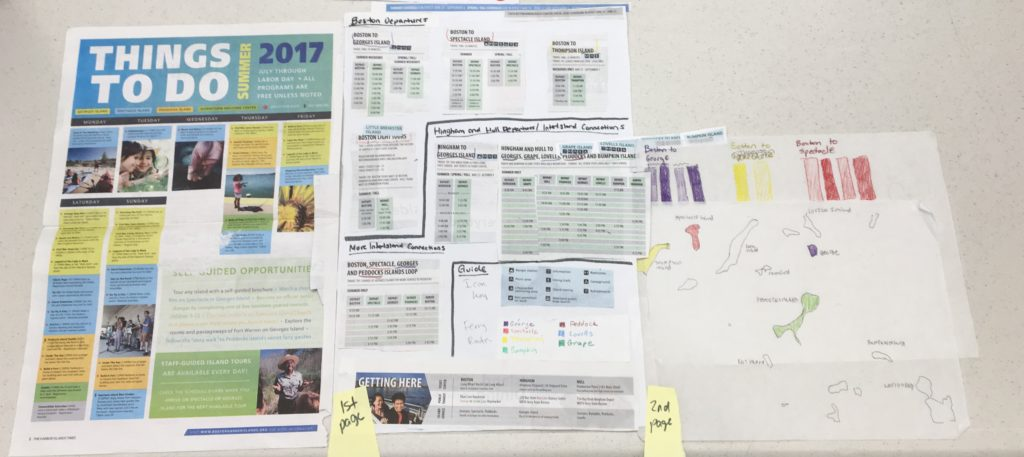 Parts of park newspaper are cut up and collaged into a new layout and design.