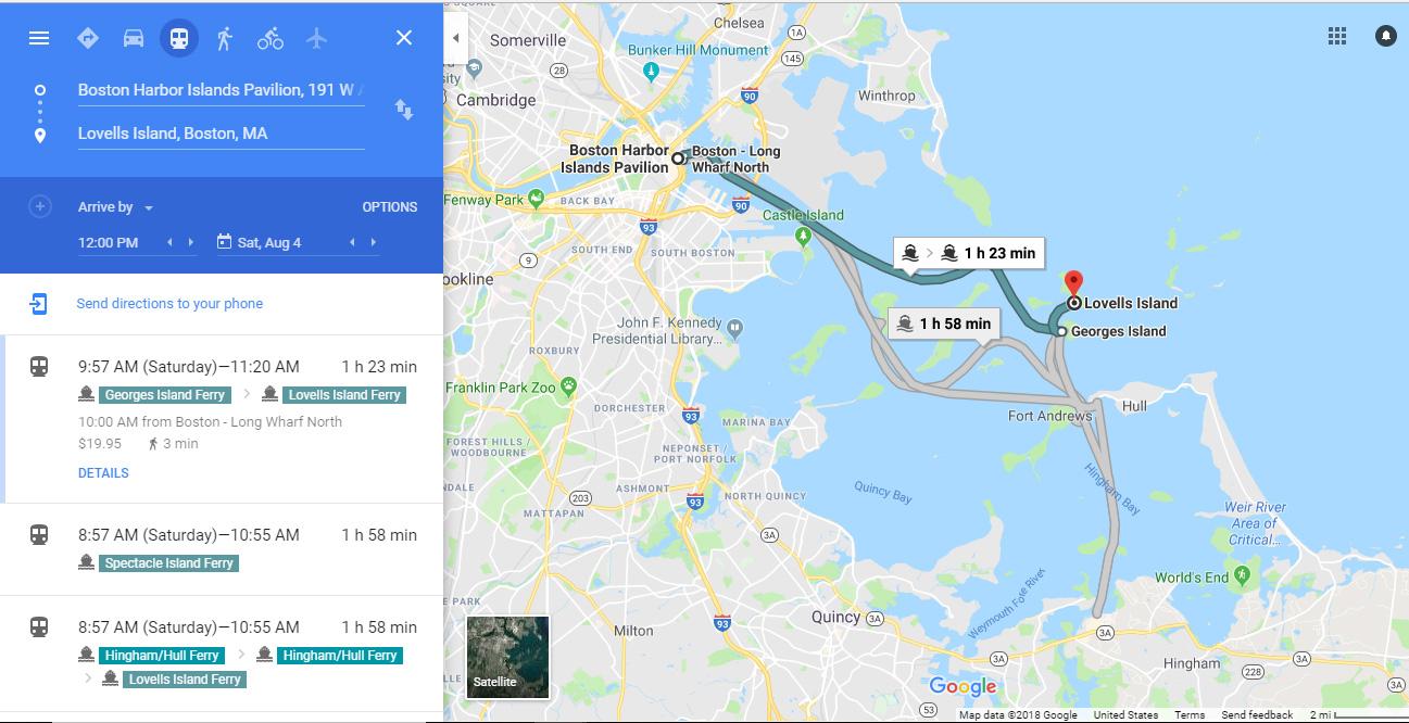 google maps - Boston Harbor Now - Boston Harbor Now