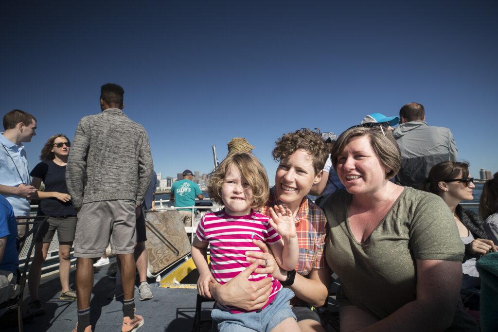 Family on Harbor Island Ferry